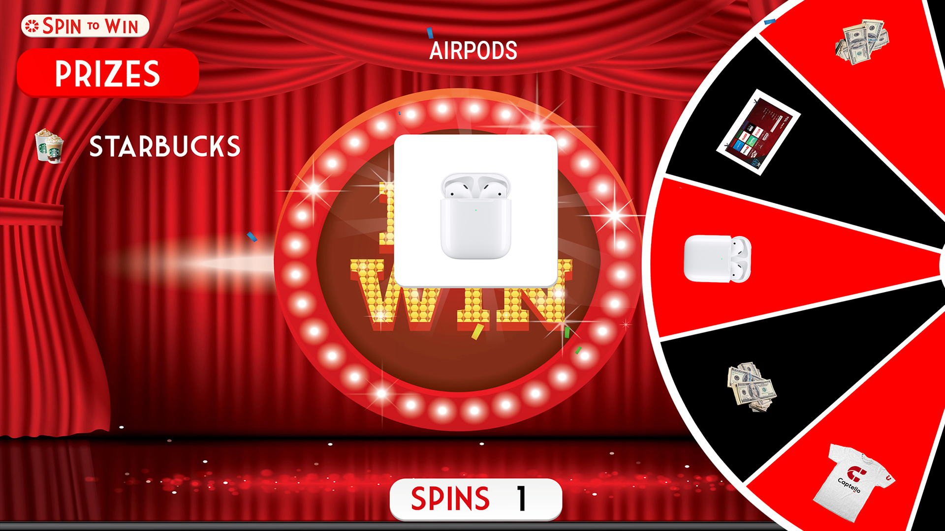 Spin to Win Theater Theme | Captello