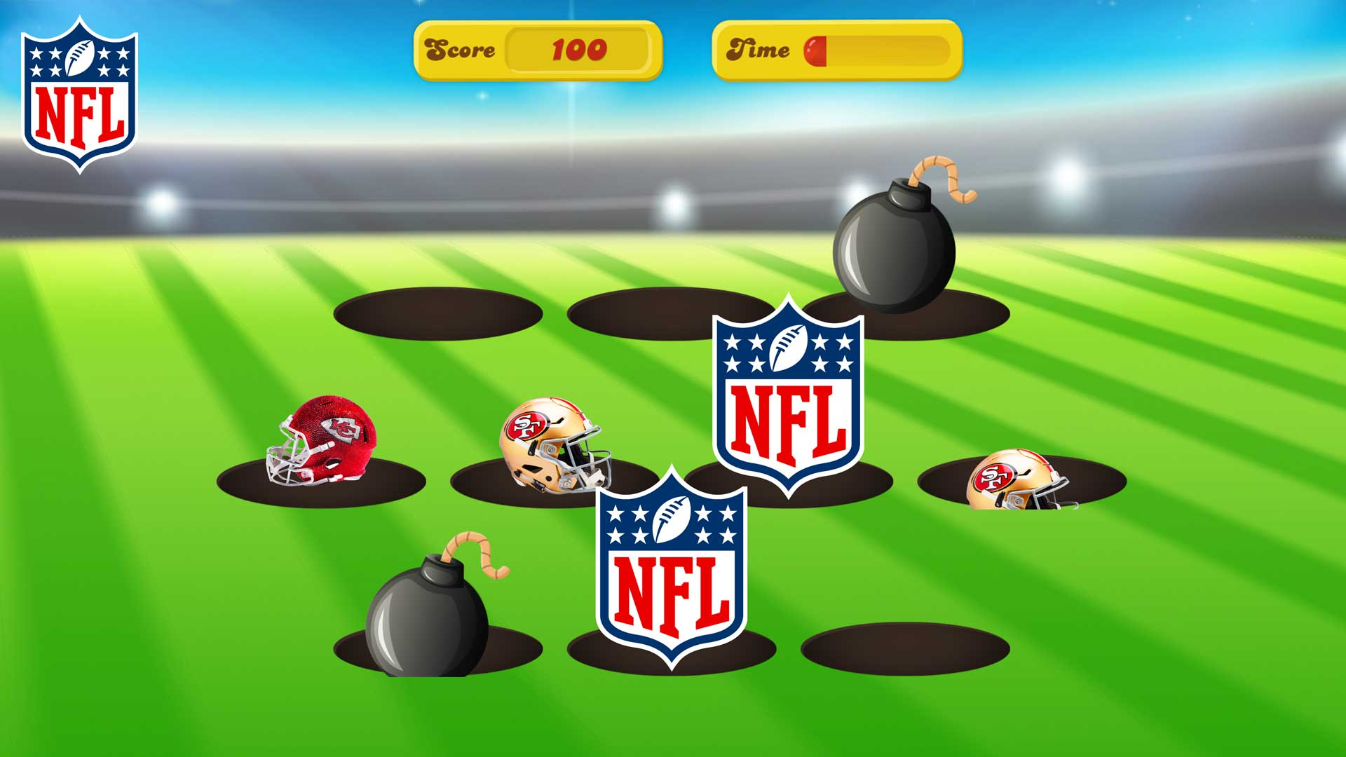 NFL Theme Whack a Mole
