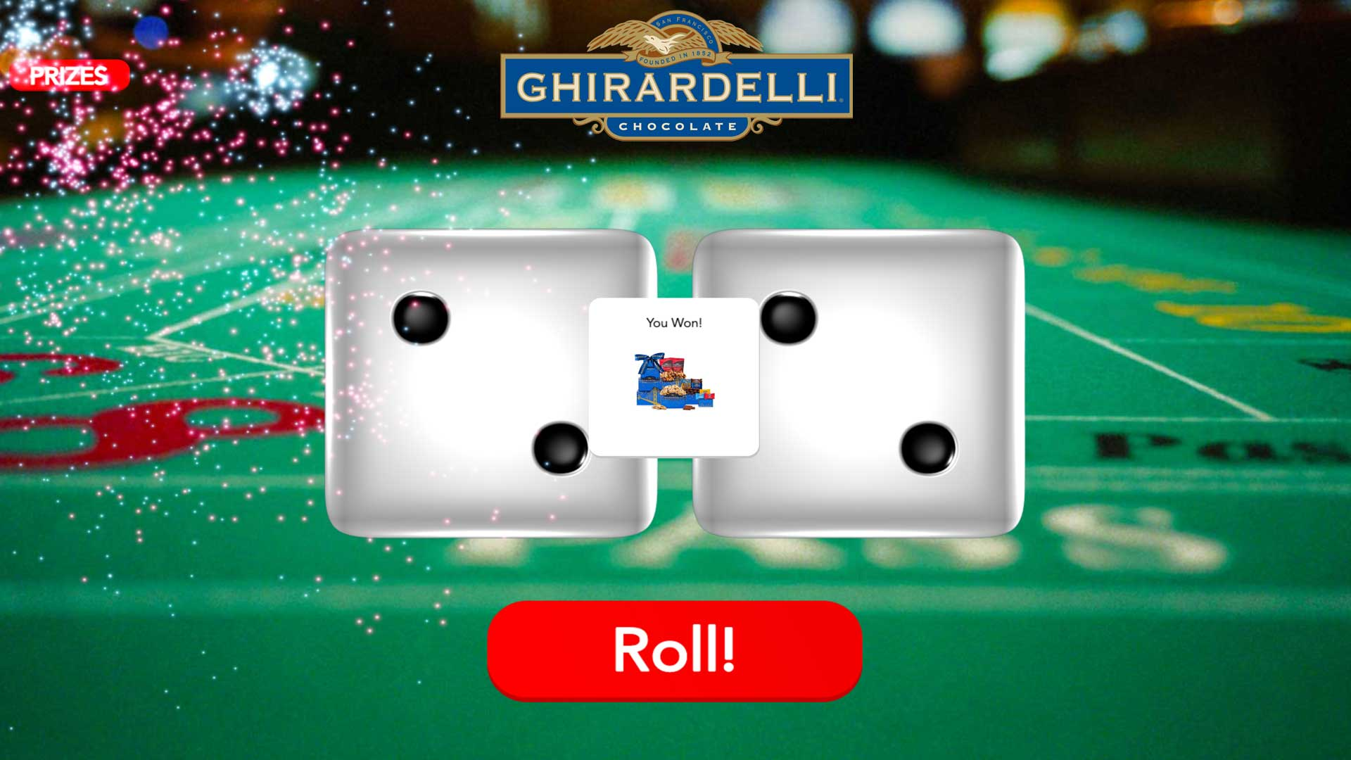 Roll Doubles Game | Ghirardelli